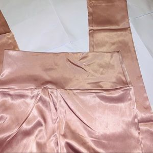 Forever 21 satin rose gold pants